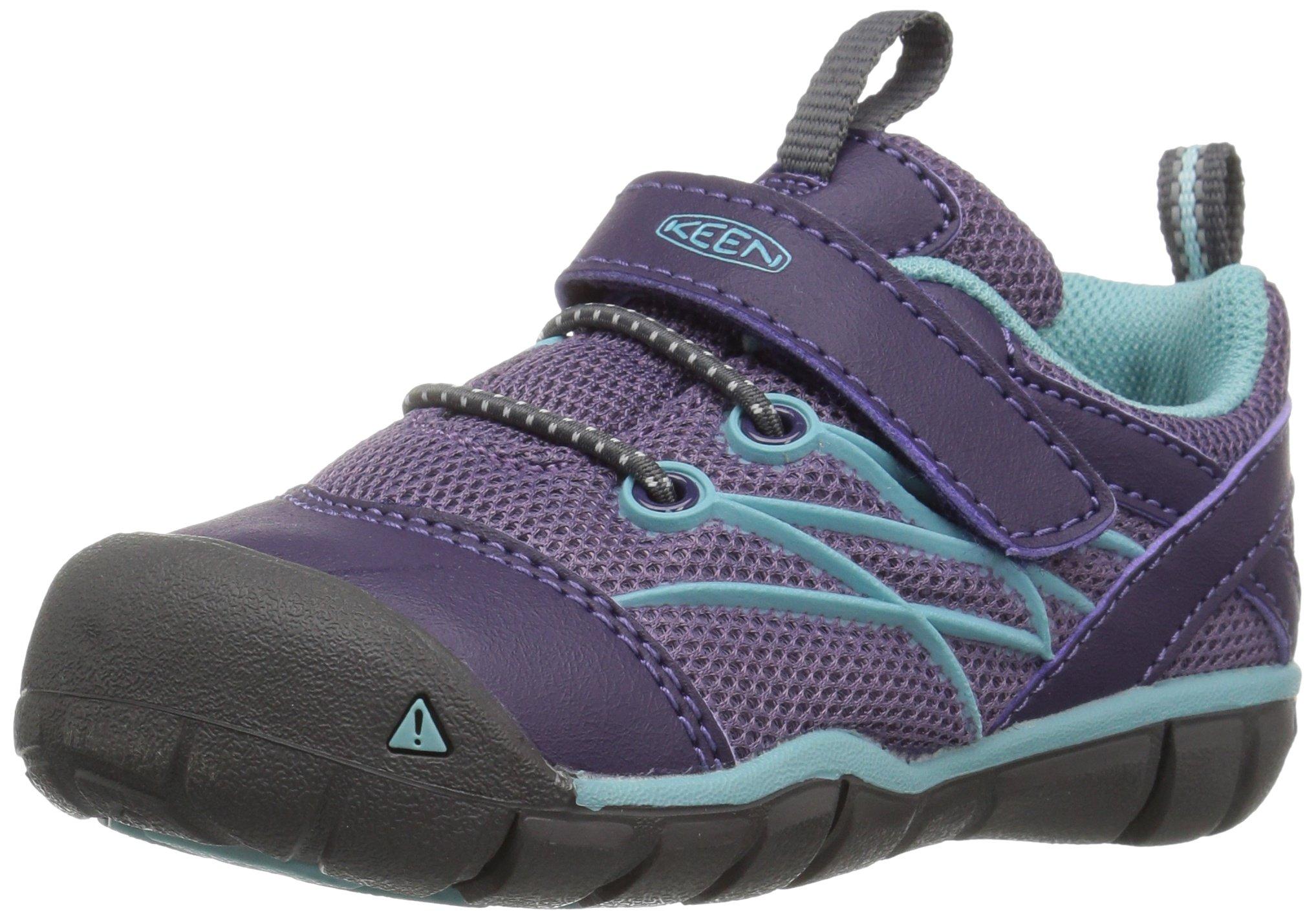 Keen Unisex-Kid's Chandler CNX Hiking Shoe, Montana Grape/Aqua Haze, 4 M US Toddler