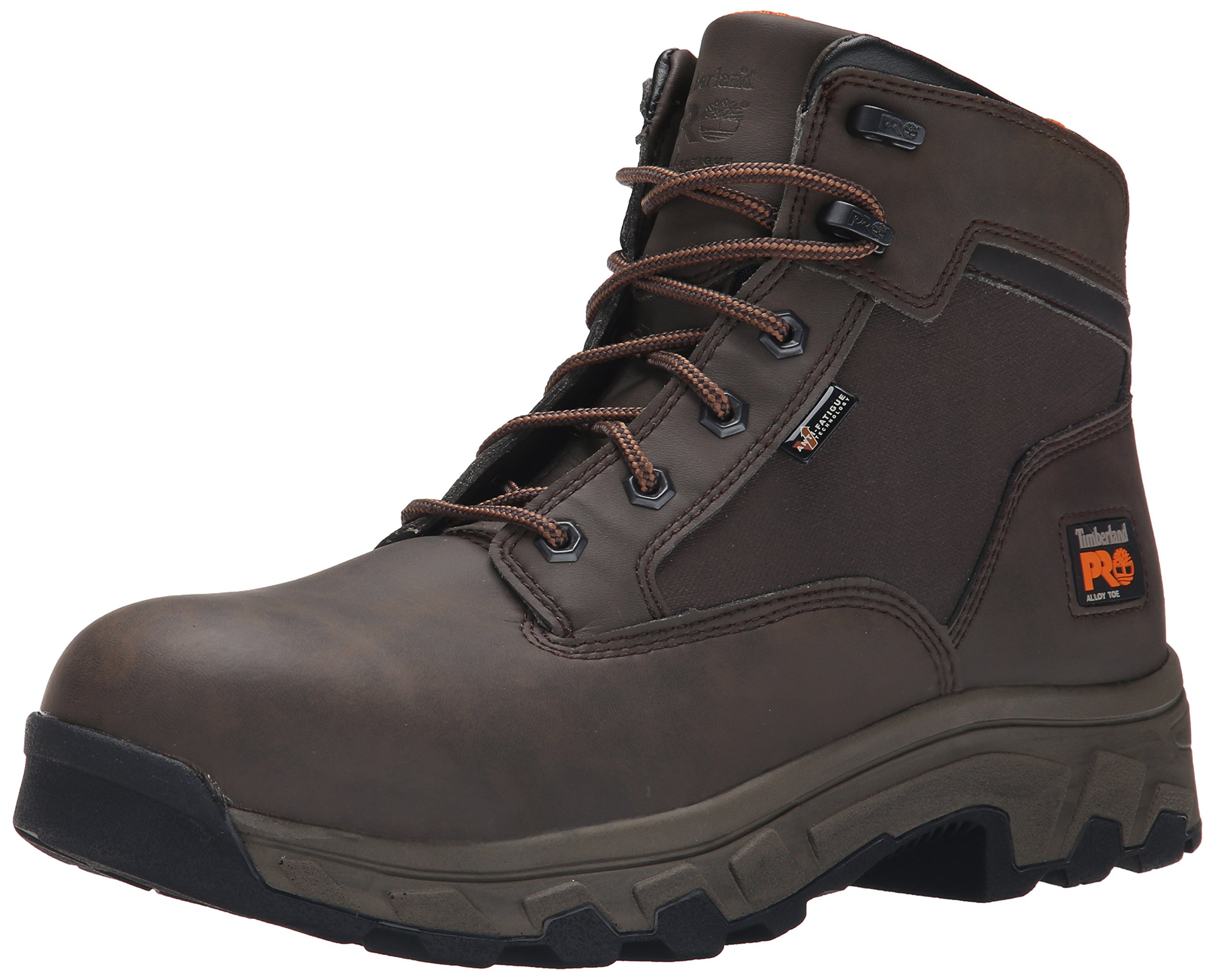 Timberland PRO Men's 6 Inch Linden Alloy Toe Work Boot, Brown clarino Microfiber, 15 W US