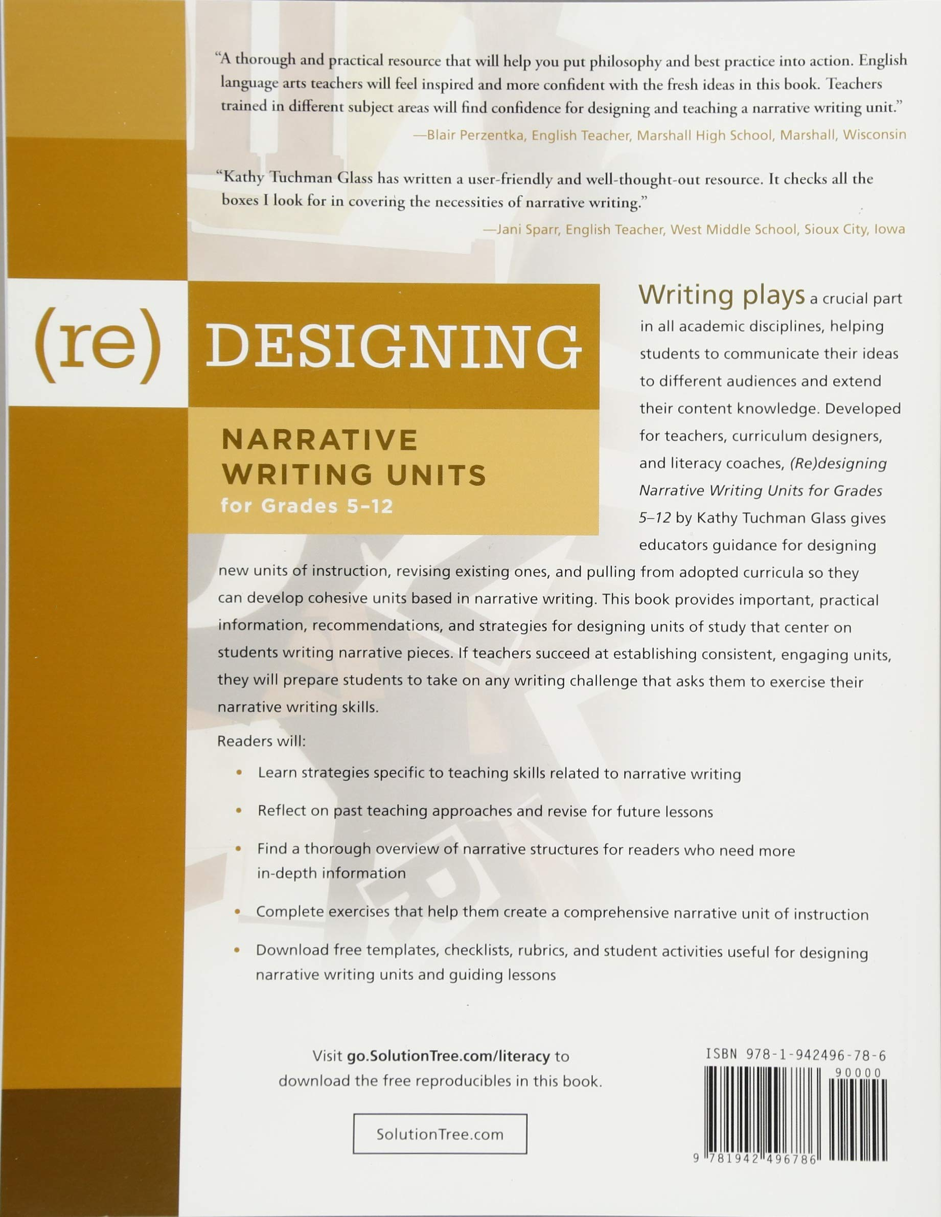 re-Designing Narrative Writing Units for Grades 5-12: Kathy Tuchman