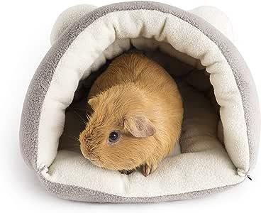 Niteangel Guinea Pig Cave Beds Cozy House Bedding for Rats Chinchilla Degu Ferrets Hedgehog (Grey)