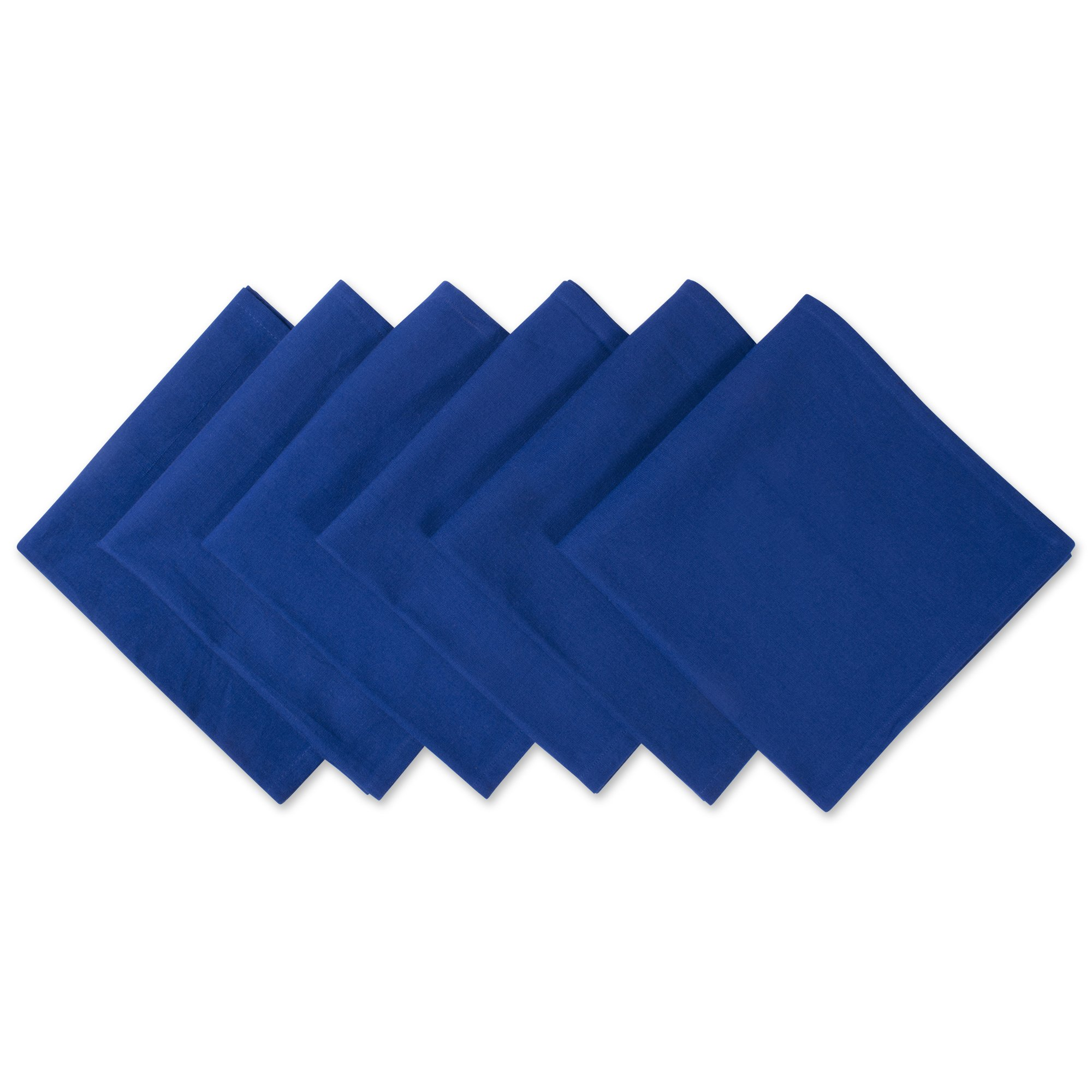 DII 100% Cotton Cloth Napkins, Oversized 20x20'' Dinner Napkins, For Basic Everyday Use, Banquets, Weddings, Events, or Family Gatherings - Set of 6, Nautical Blue by DII