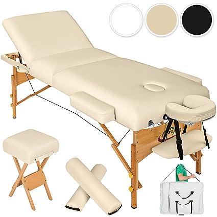 Lettino Massaggio Estetista.Tectake Lettino Massaggi 10cm Imbottitura Estetista Massaggio Portatile Disponibile In Diversi Colori Beige No 400187