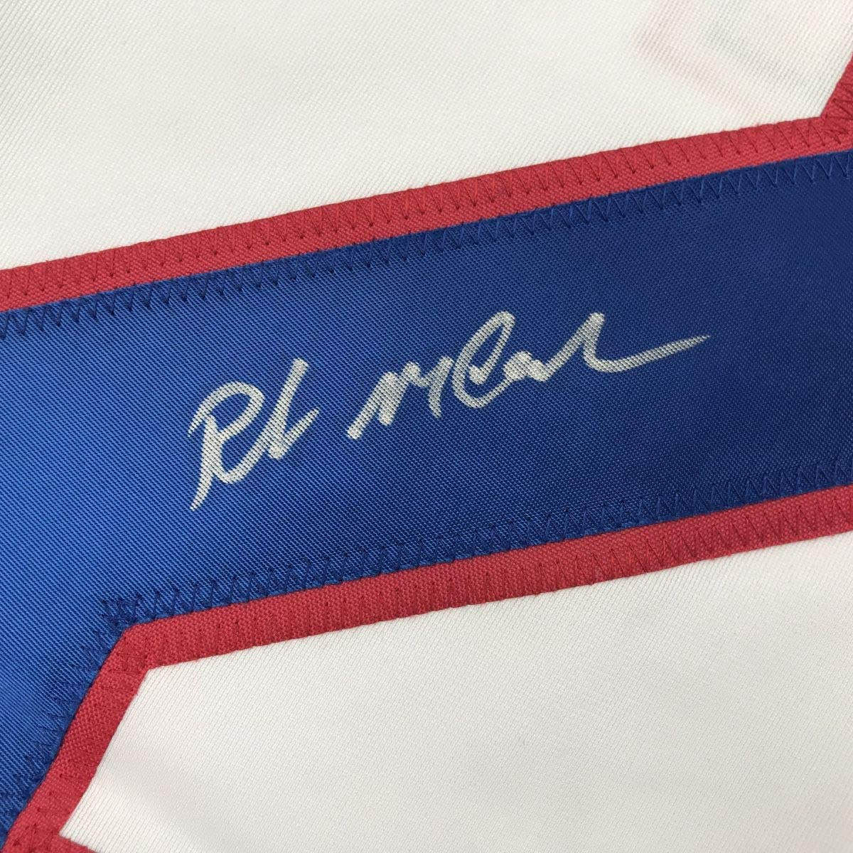 Autographed//Signed Rob McClanahan White Team USA Miracle On Ice 1980 Olympics Hockey Jersey JSA COA