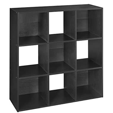 ClosetMaid 78016 Cubeicals Organizer, 9-Cube, Black