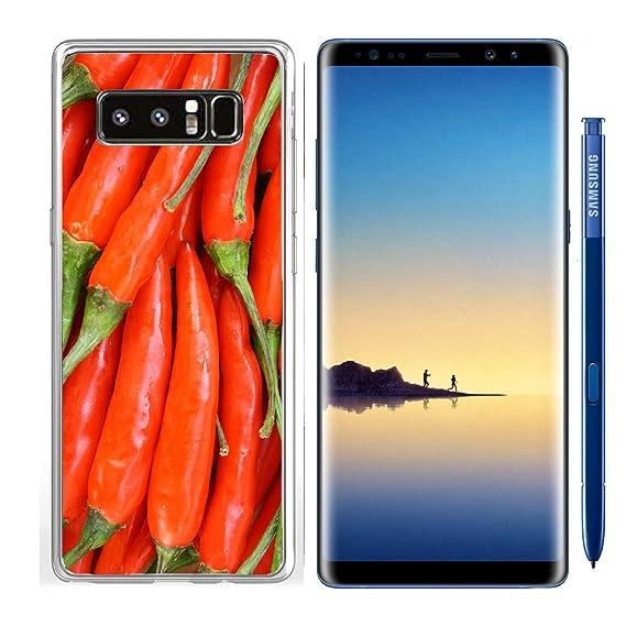 Amazon com: Luxlady Samsung Galaxy Note8 Clear case Soft TPU Rubber