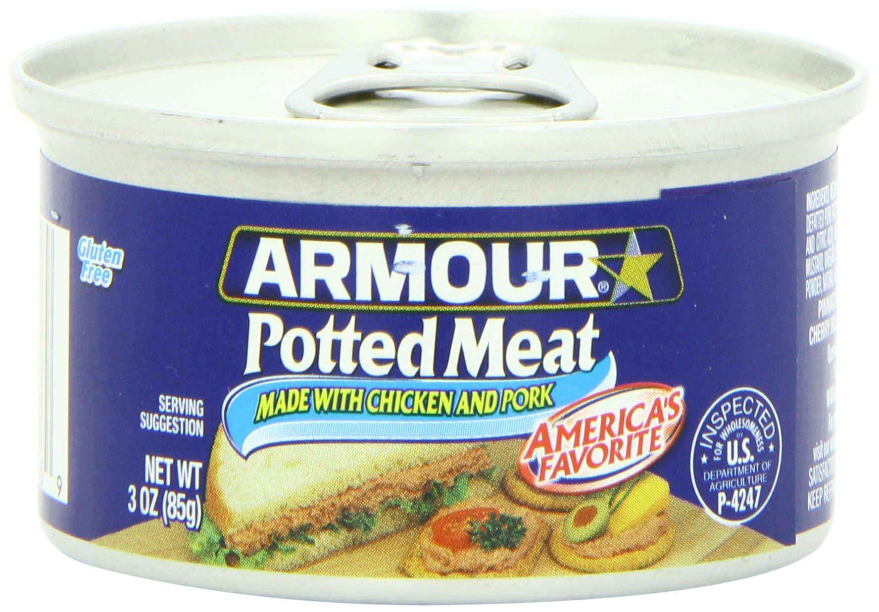Armour Potted Meat Spread, 3-Ounce Cans (Pack of 48)