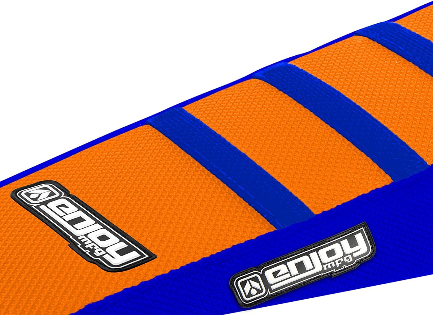 KTM SX 50 2009-2015 Ribbed Gripper Seat Cover All Blue Orange Ribs Motocross