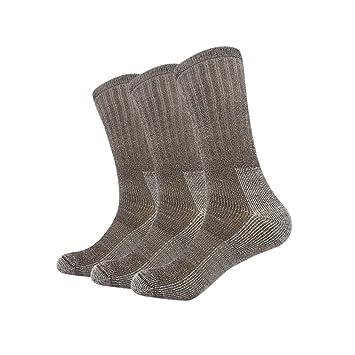 Vihir Calcetines de lana merino grueso para senderismo, esquí al aire libre hombre caballero: Amazon.es: Deportes y aire libre