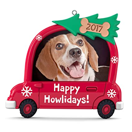 Amazon.com: Hallmark Keepsake 2017 Happy Howlidays! Dog Picture ...