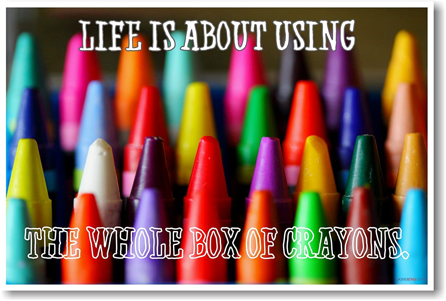amazon com life is about using the whole box of crayons new