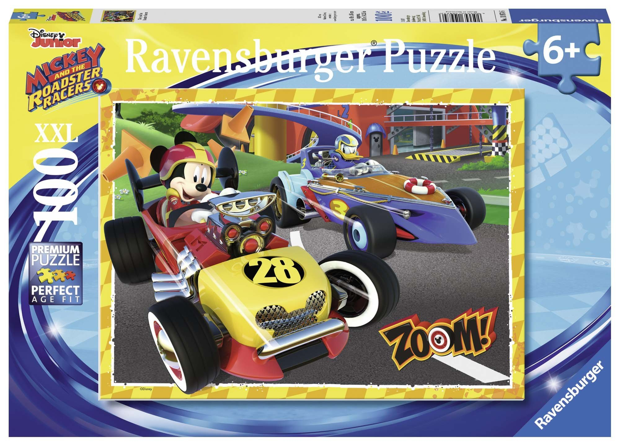 Ravensburger Disney Mickey & The Roadster Racers Go Mickey! 100 Piece Jigsaw Puzzle for Kids – Every Piece is Unique, Pieces Fit Together Perfectly