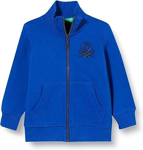 United Colors of Benetton Baby-Jungen Felpa Zip Strickjacke