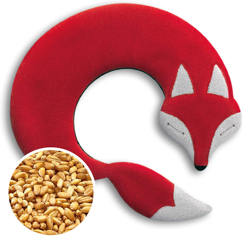 Leschi | Almohadilla de calor (para las cervicales y los hombros) | 36844 | El zorro Noah | Color: Fuego/Medianoche