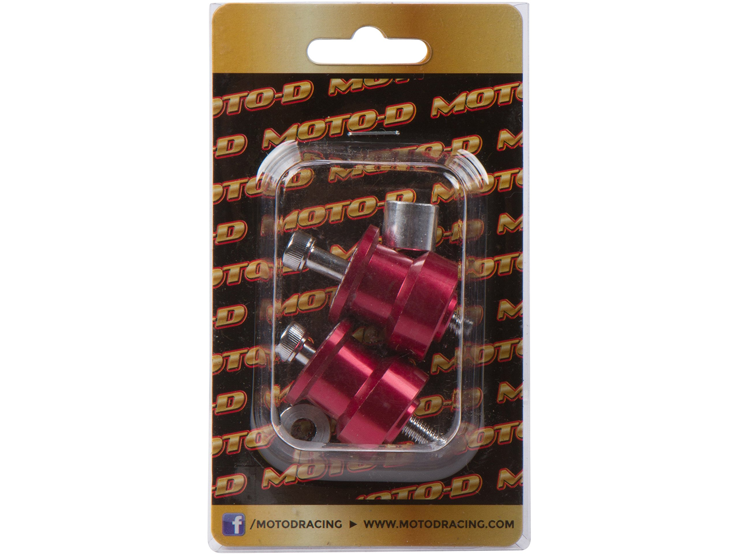 MOTO-D 8MM Swingarm Spools Red