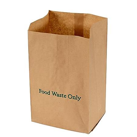 All-Green - Bolsas de Basura biodegradables y compostables (Papel, 10 L, 100 Bolsas), Color marrón