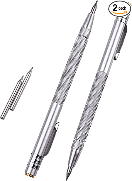 D DOLITY 1pc Tungsten Carbide Tip Scriber with Clip for Glass//Ceramics//Metal Sheet