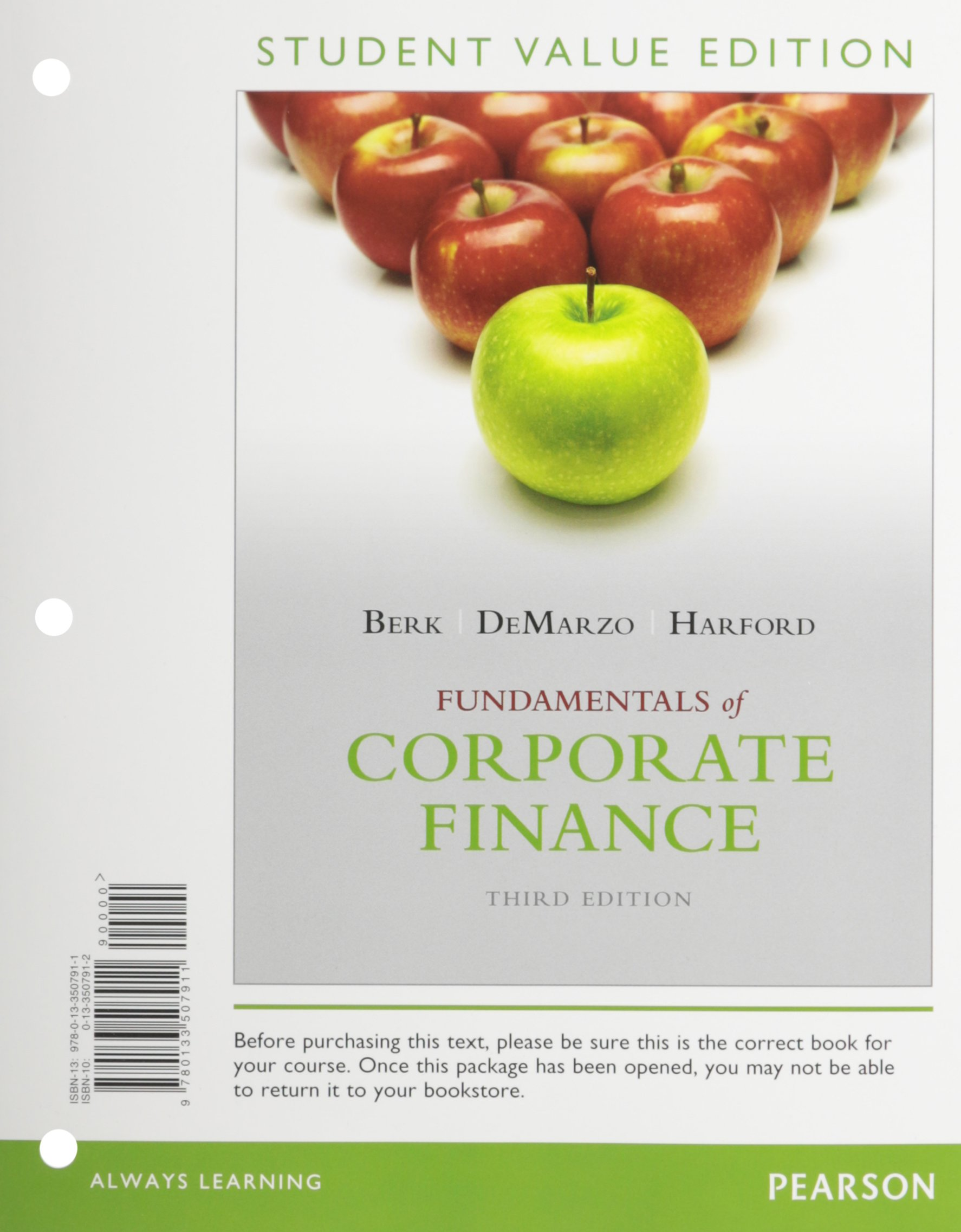 Corporate Finance, Student Value Edition (3rd Edition) [Loose Leaf]