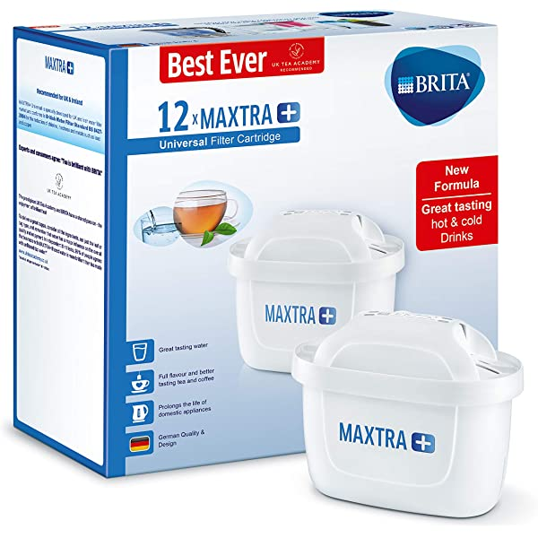 White Pack of 6 BRITA Maxtra+ Water Filter Cartridges by BRITA UK Version