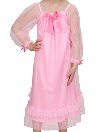 b8f930b0eb Amazon.com  Laura Dare Big Girls Bowtastic Nightgown w Scrunchie