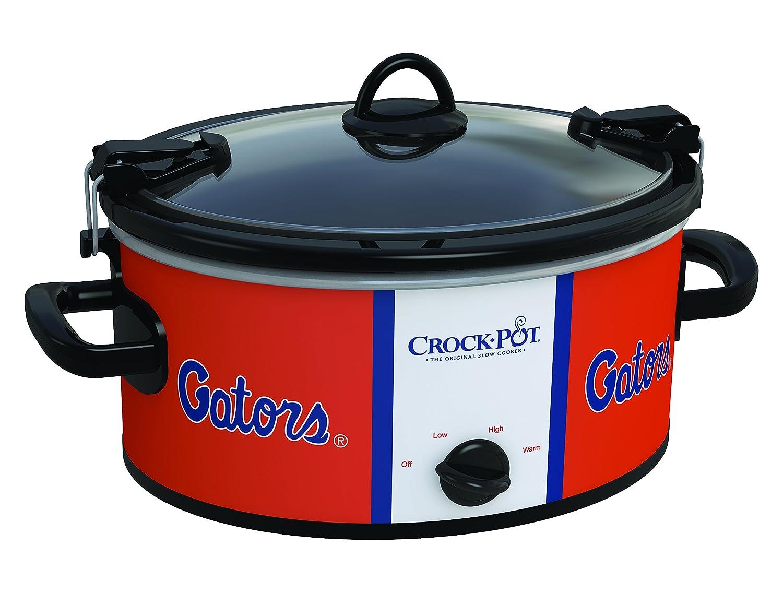 Crockpot SCCPNCAA600-UFL Cook and Carry Slow Cooker, 6 quart, University of Florida, Orange/White