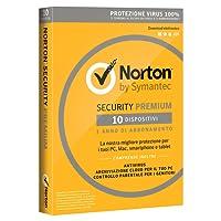 Norton Security Premium 2018 | 10 Dispositivi | 1 Anno | Protezione Antivirus | PC/Mac/iOS/Android | Download