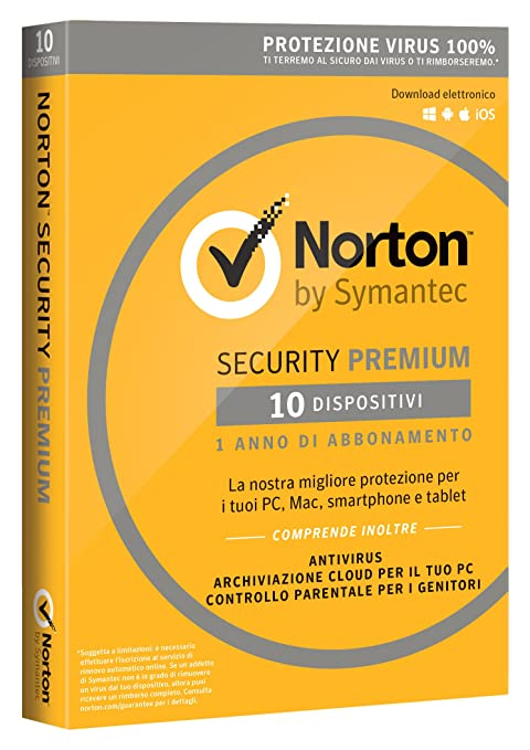 29 opinioni per Norton Security Premium 2017- 10 dispositivi, 1 anno