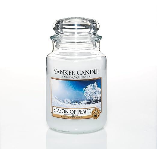 20 opinioni per Yankee candle 1275351E Season Of Peace Candele in giara grande, Vetro, Bianco,
