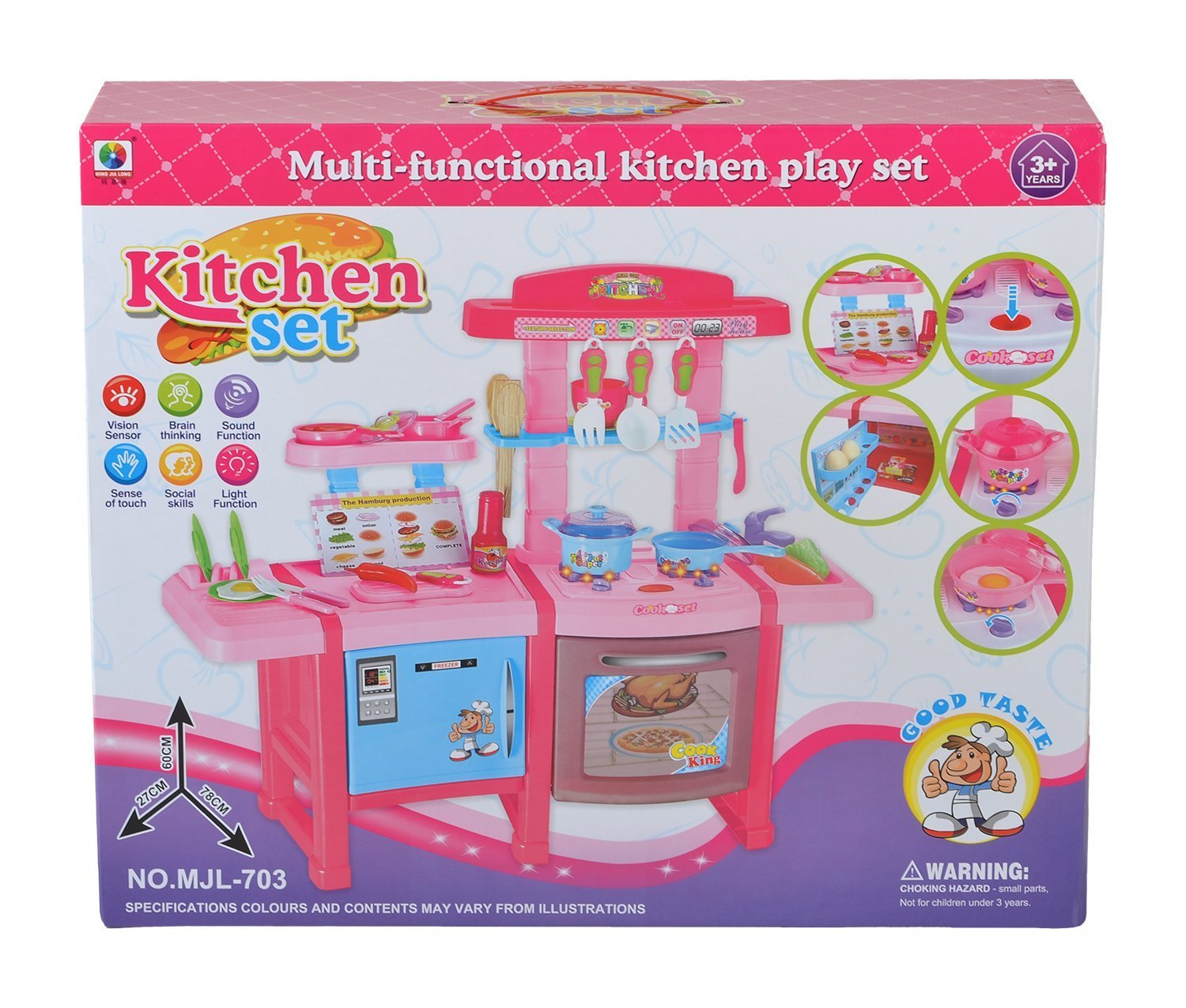 Buy Planet Of Toys Multifunctional Electronic Kitchen Set With Light And Sound Online At Low Prices In India Amazon In