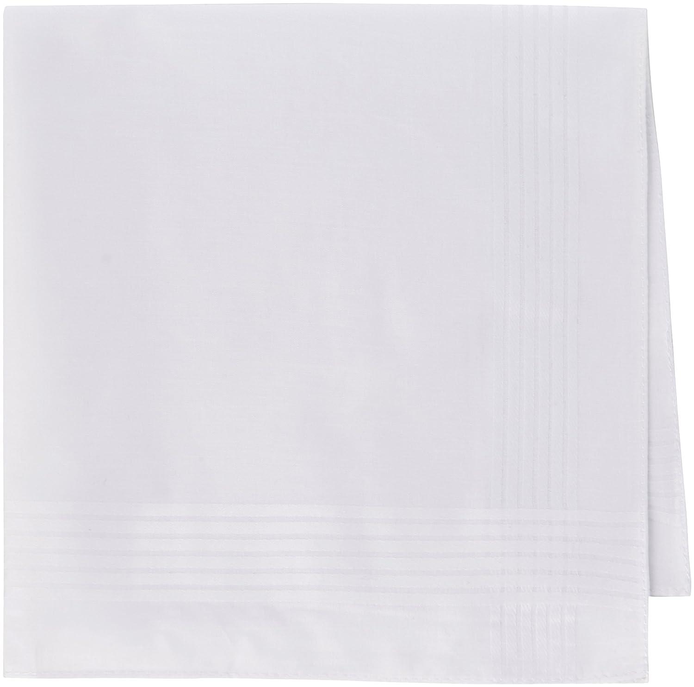 Handkerchief Hut Exclusive Bakers Dozen Pure Cotton Men's Handkerchiefs/Hankies White DUDU N GIRLIE Baker Dozen
