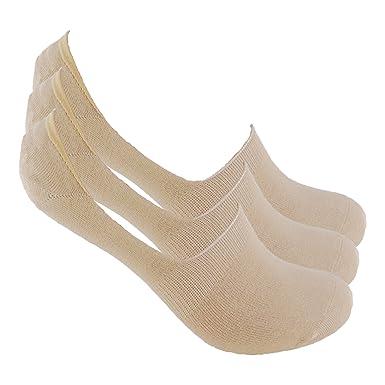 Calcetines INVISIBLES (3 pares.) SIN COSTURAS PINKI. Con silicona en talón y goma antipresión que mantienen sujeto el calcetín al pie y no se caen.