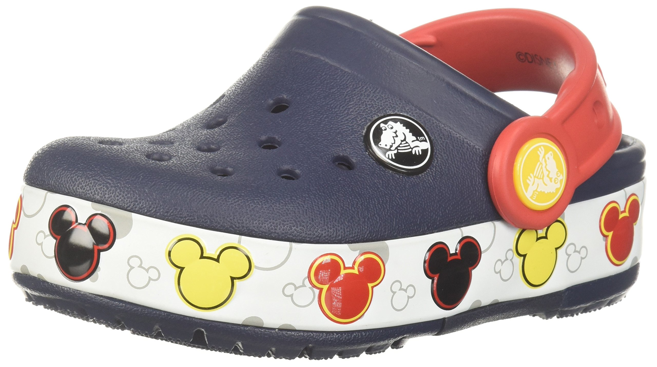 Crocs Kids' Crocband Fun Lab Mickey Light-up Clog, Navy, 11 M US Little Kid