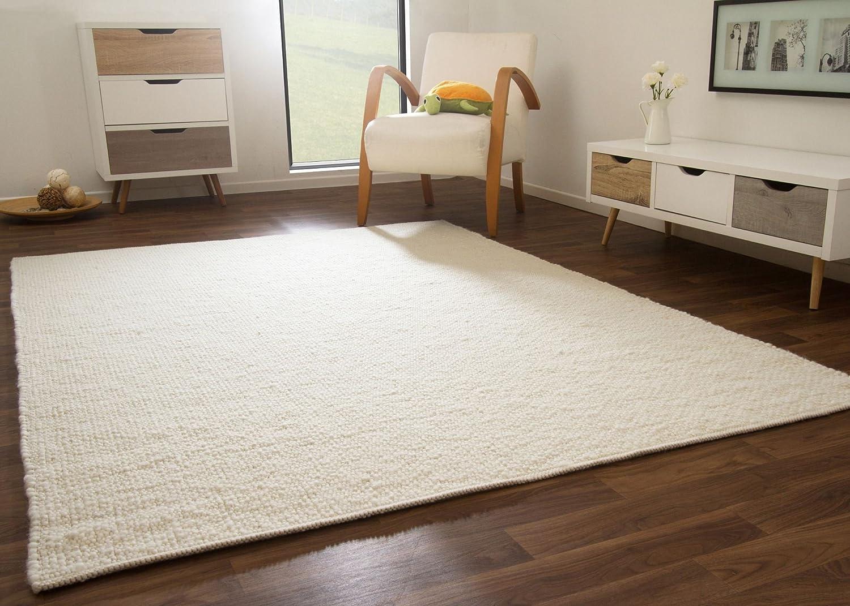 Birgsau Handweb Teppich - aus nachhaltiger, deutscher Produktion - weiß, Größe  300x400 cm