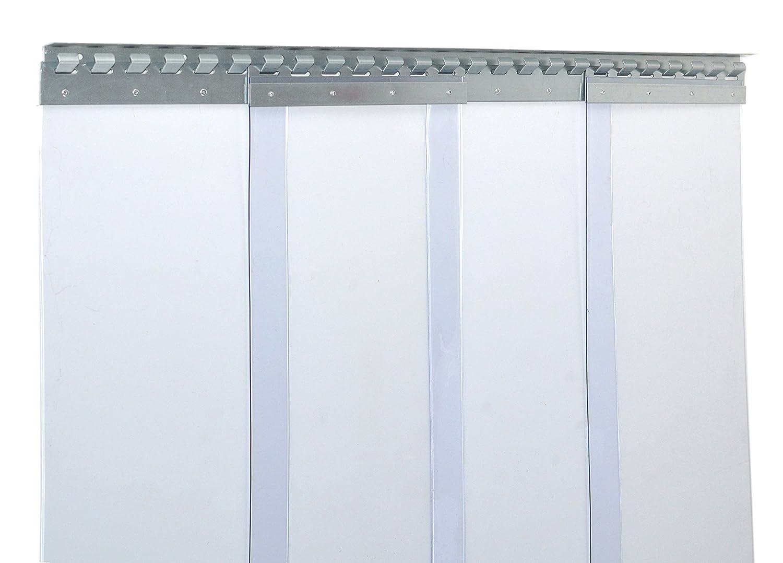 compl/ètement pr/é-assembl/é transparent protection contre les /&eacu r/ésistant aux intemp/éries rails de montage galvanis/és Rideau /à lani/ères en PVC Rideau industriel /à lani/ères 3x300mm