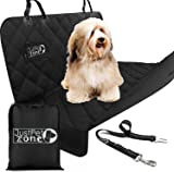 Back Car Seat Cover For Dogs Pets Kids with Seat Belt and a Bag, Hammock Style With Side Flaps Waterproof Heavy Duty Scratch Proof Nonslip Washable Padded Pet Seat Cover for Cars Trucks and SUVs.
