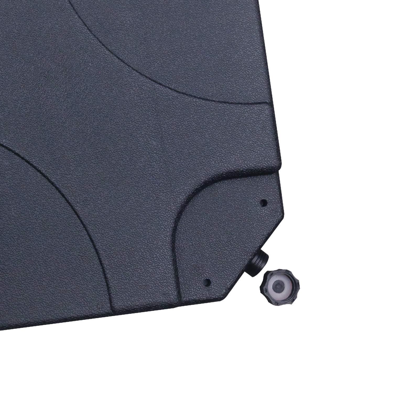 Pezzi ABCCANOPY Heavy-Duty Patio Market Umbrella Supporto di Base riempibile con Sabbia o Acqua