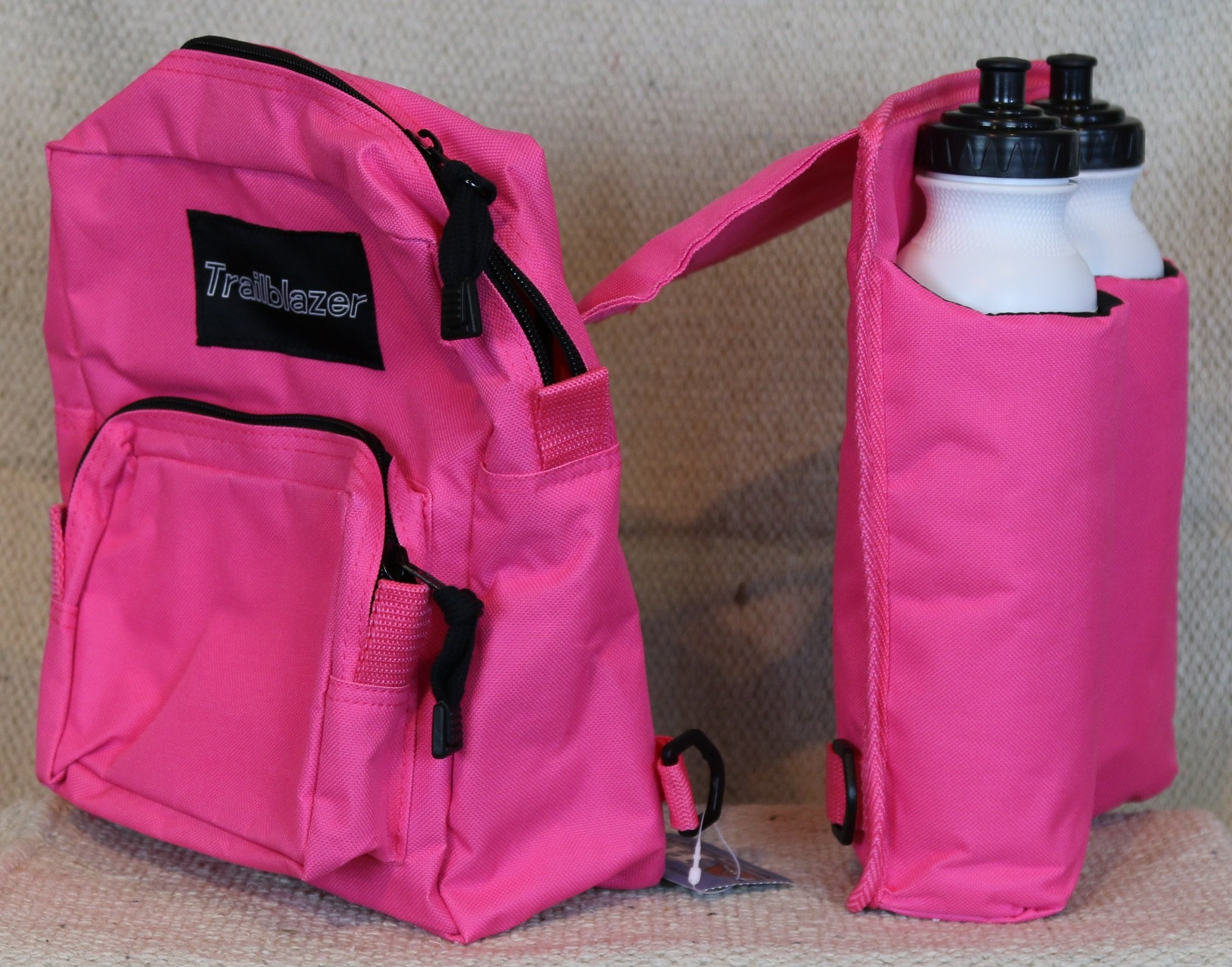 Myhoovesandpaws Pink Horn Pommel Bag Saddle Trail Riding With 2 Water Bottles
