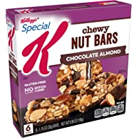 Special K Chewy Nut Bars, Chocolate Almond, Gluten Free, 6.96 oz (6 Count)(Pack of 8)