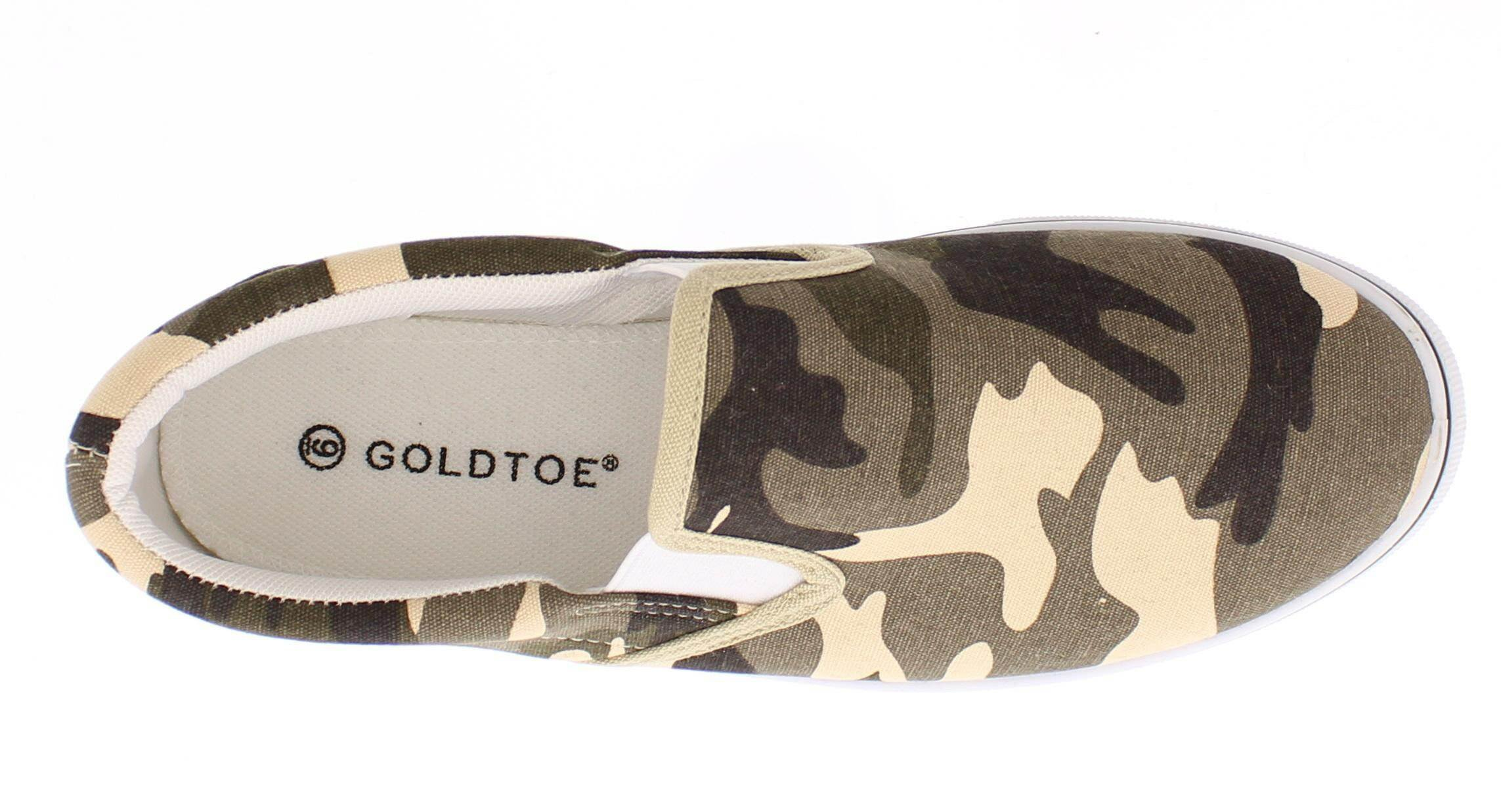 Gold Toe Doug Mens Slip On Shoes Casual,Memory Foam Sneakers for Men,Canvas Shoe,Men's Deck Shoes,Skate Shoes Camouflage 9.5W US by Gold Toe (Image #6)