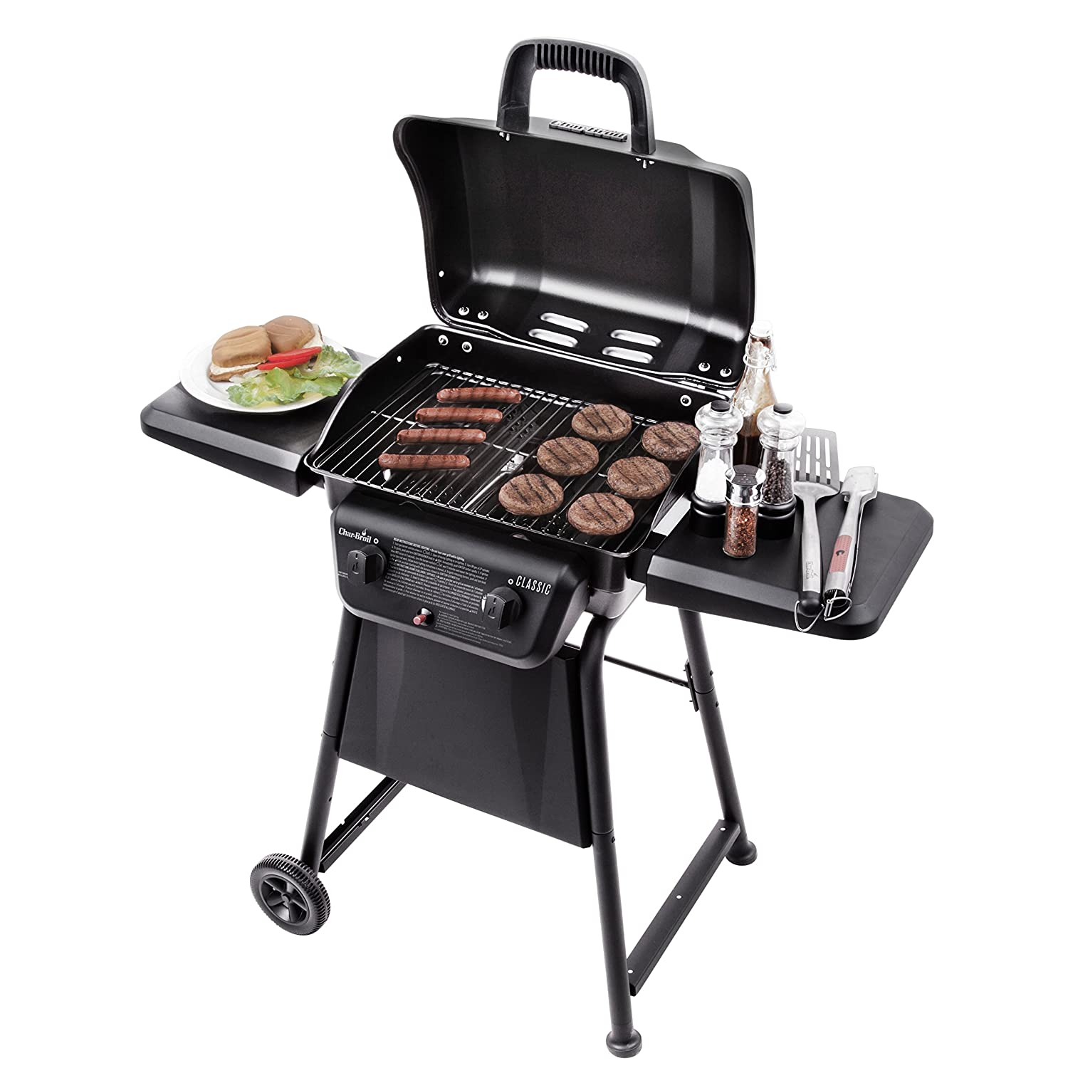 amazon com char broil classic 280 2 burner gas grill garden