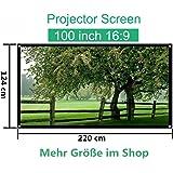 Mileagea Écran de Projection 100 Pouches 220x127cm seulement 1,5kg pour HD / 3D Film
