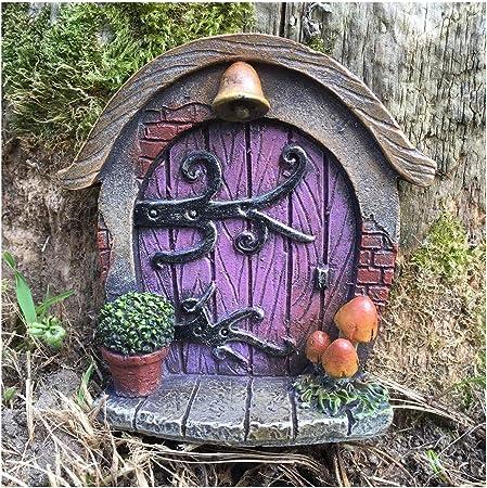 Decoración para árbol de jardín, diseño de en forma de puerta de duende, elfo o hada, accesorio extravagante y divertido, 7 cm de alto: Amazon.es: Hogar