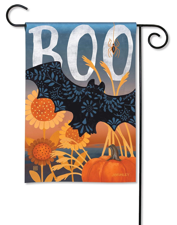 Studio M Boo Bat BreezeArt Fall/Winter Decorative Garden Flag – Premium Quality, 12.5 x 18 Inches