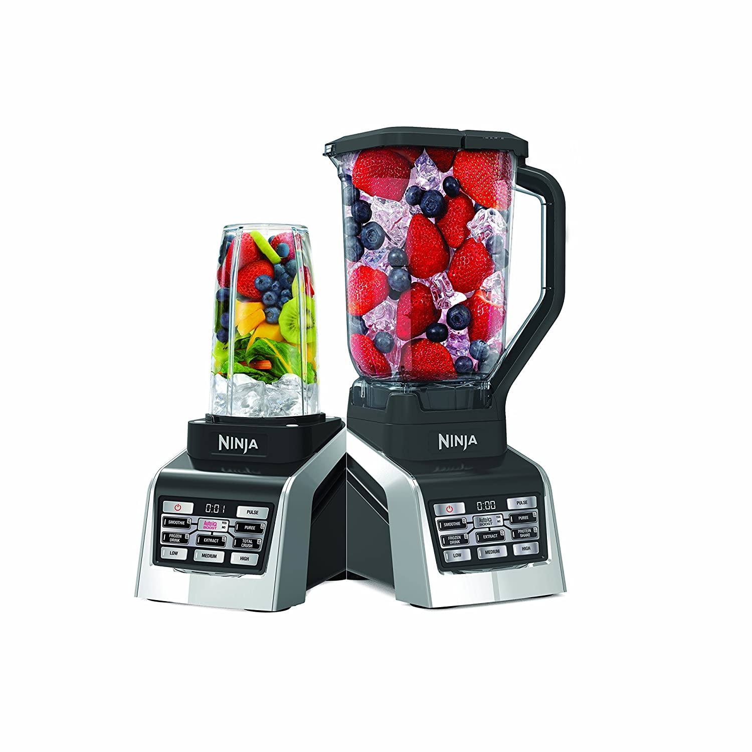 Nutri Ninja Countertop Blender with 1600-Watt Auto-iQ Boost Base with 88oz Total Crushing Pitcher, (2) 24 and 1 16oz Cups with Spout Lids (BL2013) ...