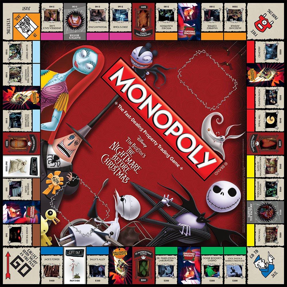 Amazon.com: Monopoly Tim Burton's The Nightmare Before Christmas ...