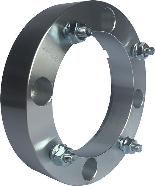 Silver 4 Lug wheelspacer for Polaris Ranger 4x156 Wheel Spacers S 900 ATV 1.5 inch 4 pieces UTV 38.1mm XP 1000 RZR S 1000 131mm bore, 12x1.5 Studs /& Nuts