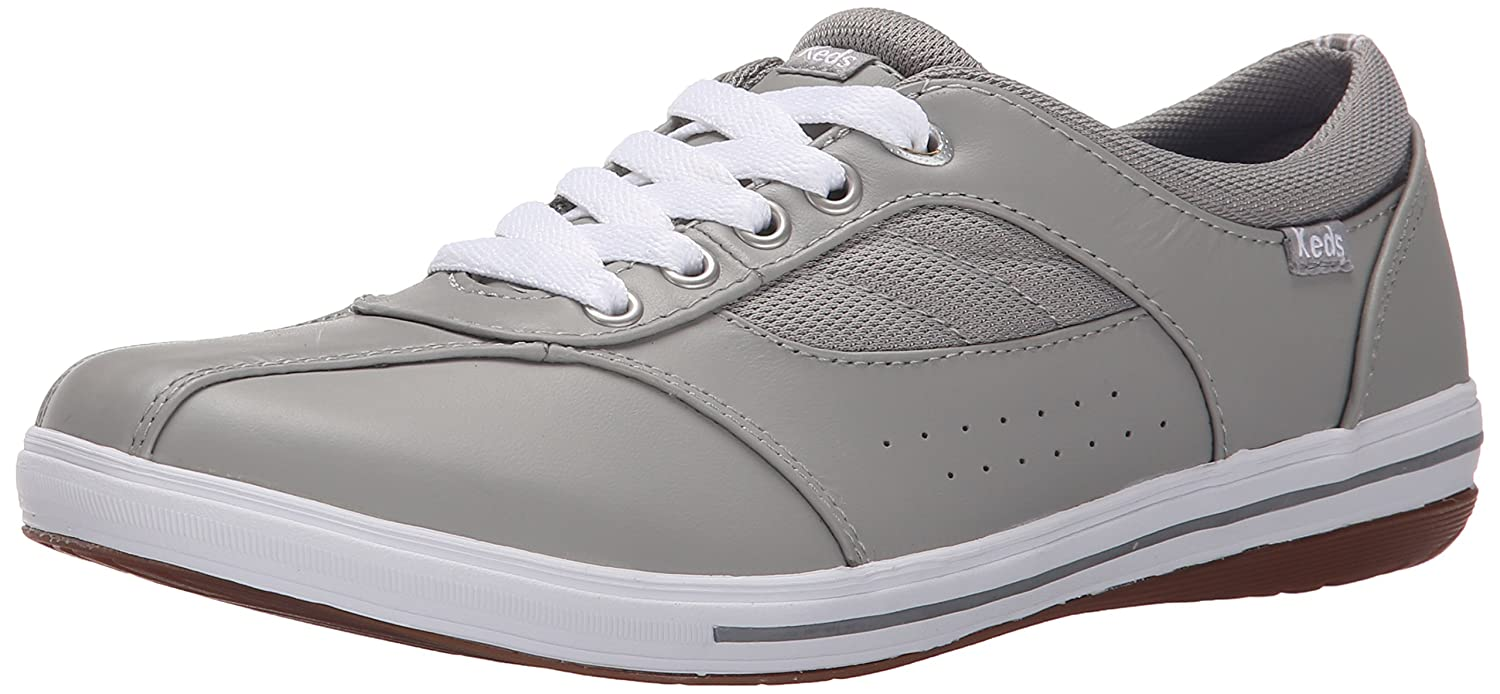 Keds Women's Prestige Fashion Sneaker B00ZUV5T14 6.5 B(M) US|Grey Leather