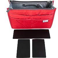 Periea 'Chelsy Premium' Inserto Rígido Organizador de Bolsos (Insertos de Estructura Lateral y Base) (Rojo, Pequeño)