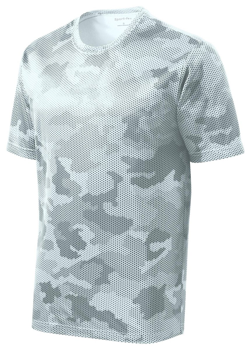 Sport-Tek Men's CamoHex Tee XL White