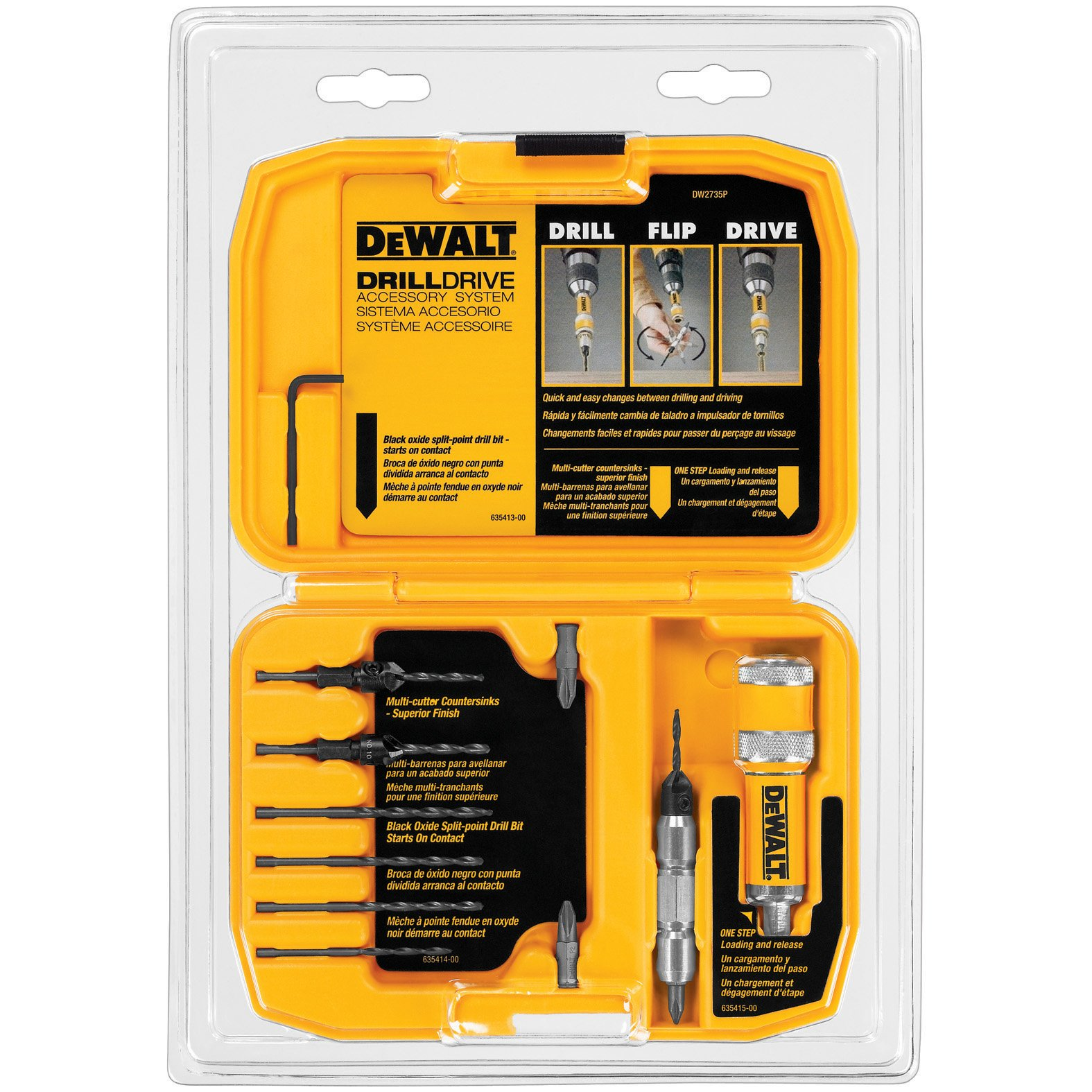 DEWALT Screwdriver Bit Set / Drill Bit Set, Flip Drive, 12-Piece (DW2735P) by DEWALT