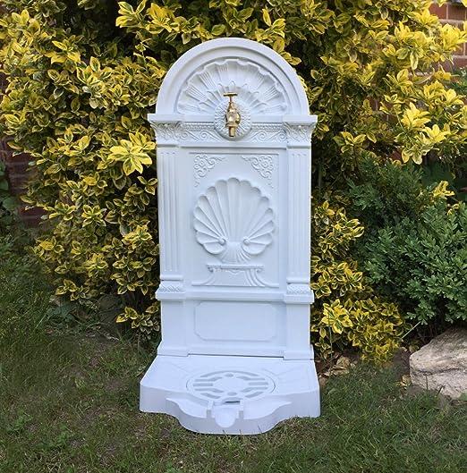 Antikas - Fuente de pie Jardin con Grifo de latón - Toma de Agua Jardin - Fuentes Decorativas terraza: Amazon.es: Jardín